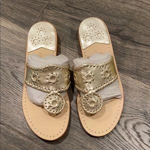 Jack Rogers sandals in platinum
